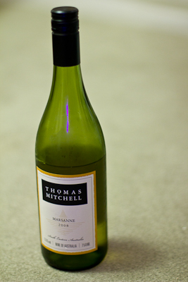 A bottle of the curiously butch Thomas Mitchell Marsanne