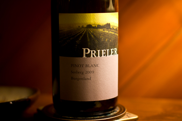 A bottle of Prieler Pinot Blanc from Waitrose