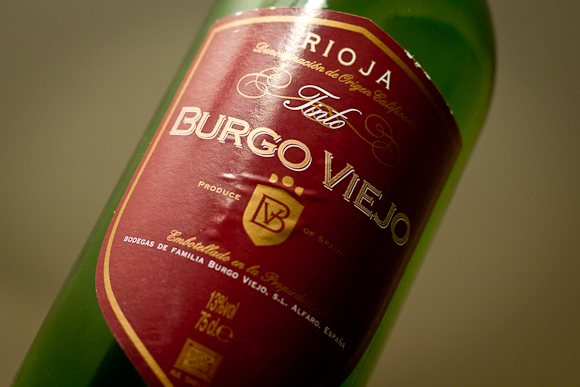 A bottle of Burgo Viejo Rioja from Naked Wines