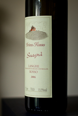 A bottle of Suagna from The Wine Society
