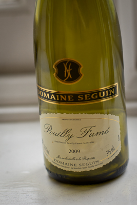 A half bottle of Pouilly-Fume from the Wine Society