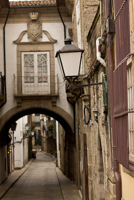 An old Portuguese street in Guimaraes