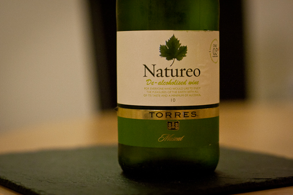 The label of this bottle of de-alcoholised wine by Torres — a picture of a leaf adorns the label of this trap for unwary wine-shoppers