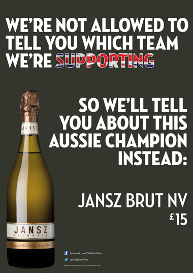 Oddbins promo artwork for a campaign definitely not linked to the Olympics