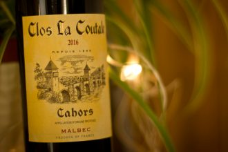 Bottle of Clos la Coutale Cahors red wine