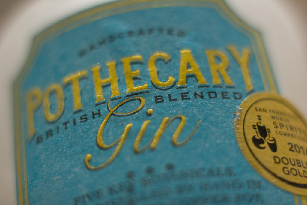 Pothecary British Blended Gin label