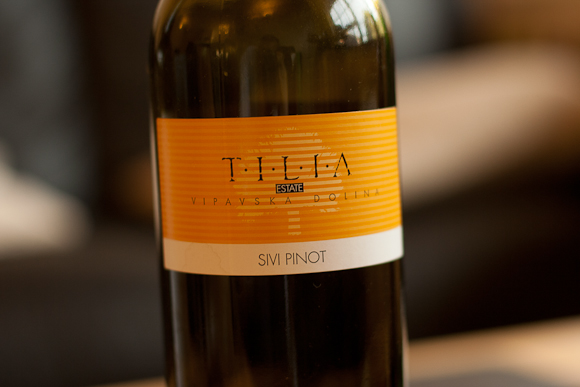 A bottle of Pinot Gris from Tilia Estate, Slovenia