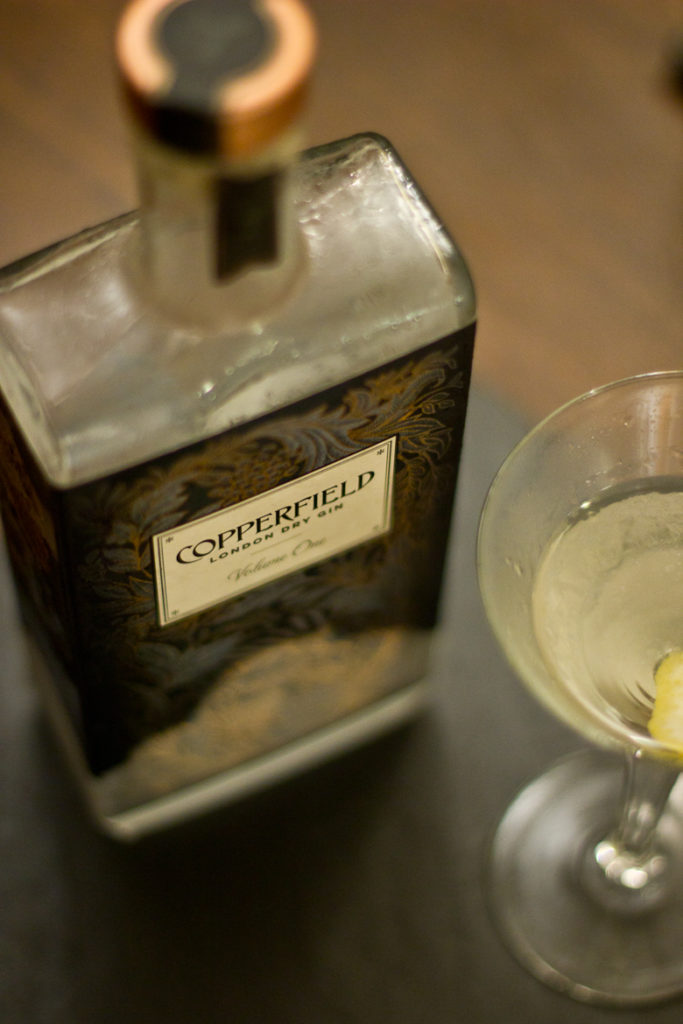 Copperfield London Dry Gin and martini