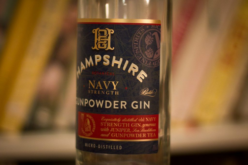 Bottle of Hampshire Navy Strength Gunpowder Gin