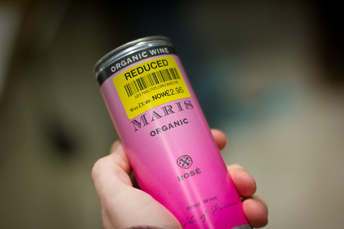 Can of Maris Organic Rose Wine