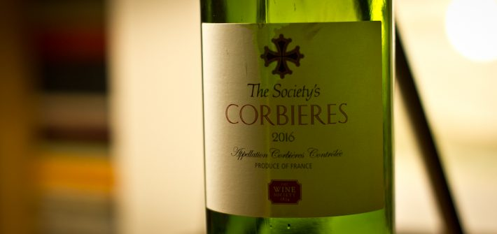 Bottle & Label of the Wine Society's Corbieres