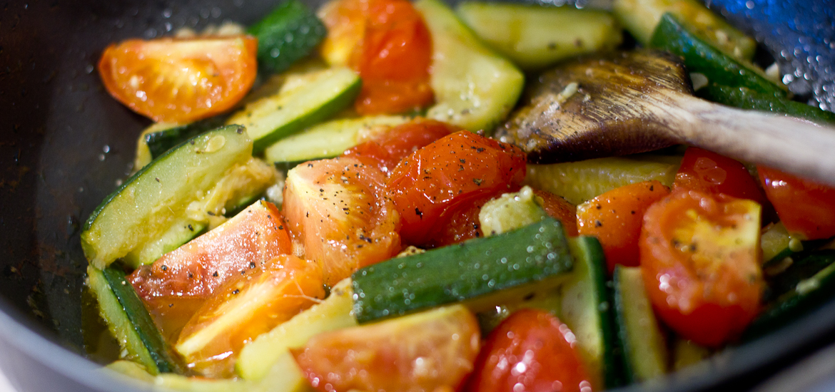 Fast Food: Courgette & Tomato