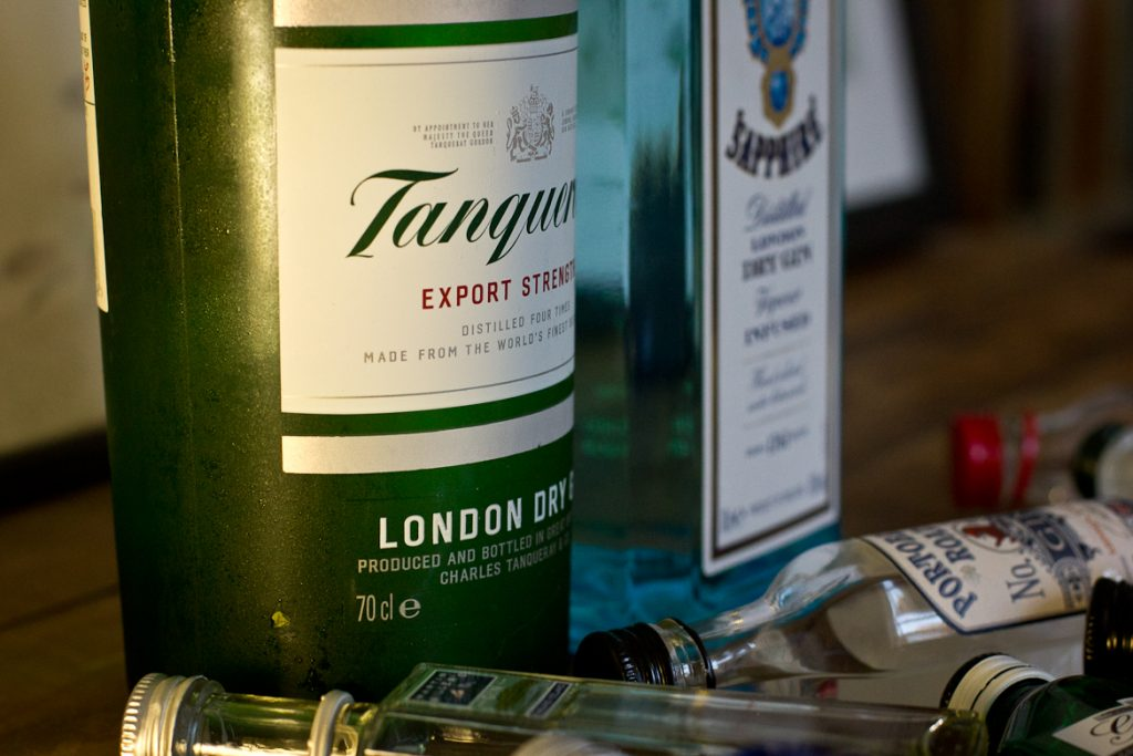 Two winning gins: Tanqueray and Bombay Sapphire